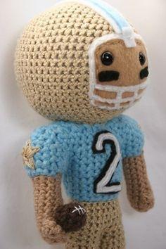 Crochet Pattern Football Star amigurumi football by Owlishly, $5.25
