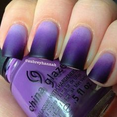 Ombré black and purple