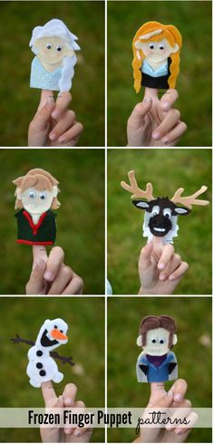 Frozen Finger Puppet Patterns - The Idea Room