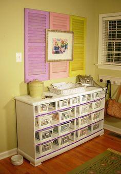 old dressers, mud rooms, room storage, drawers, baskets, craft storage, storage ideas, crafts, craft rooms