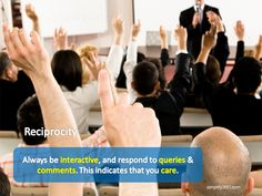 #Reciprocation: One of the major factors in #customer #engagement!