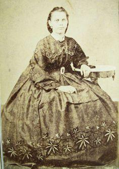 Pot leaf dress. You can't make this stuff up. Civil War Era CDV  San Francisco CA | eBay