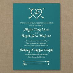 Blue and White Wedding Ideas - Tribute to Love - Classic Invitation - Marina   Occasions In Print, LLC (Invitation Link- http://occasionsinprint.carlsoncraft.com/Wedding/Wedding-Invitations/3214-MM1321131082-Tribute-to-Love--Classic-Invitation--Marina.pro)