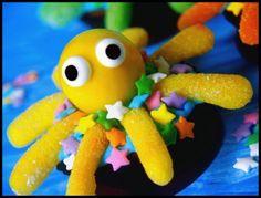Octopus brownie bites tutorial/recipe