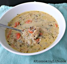 Creamy Chicken and Wild Rice soup  ~:: A Blossoming Life