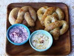 Homemade pretzels with flavored butter mmmmmm