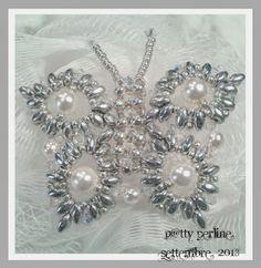 P@tty Perline: Modulino ovale butterfli, bead pattern, bead super, superduo, ptti perlin, beaded butterfly patterns, jewelri bead, beads, 3d bead