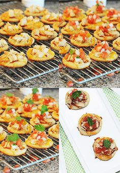 Chicken Taco Mini Pizzas