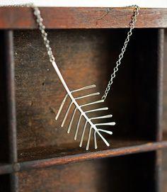 Branch sterling silver evergreen branch necklace by LaurelsBench, $75.00
