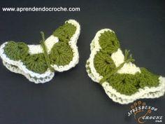 Imã de Geladeira em Croche - Borboleta Charmosa - Aprendendo Crochê