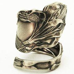 Corn Spoon Ring Vintage Sterling Silver Spoon Ring by Spoonier, $60.00