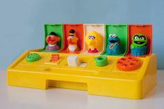 Vintage Pop Up Toy 1980 Sesame Street