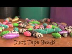Kraf Kreatif : DIY: Duct Tape Beads -     - http://carajahitanmanik.com/kraf-kreatif-diy-duct-tape-beads/