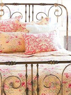 cozy vintage bed