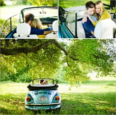 outdoor engagement ideas with our favorite convertible