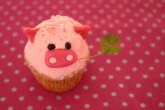 Pig cupcake!