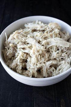 Slow Cooker Shredded Chicken# slow cooker healthy recipes