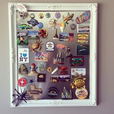 A good DIY way to showcase your magnets from traveling!!