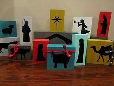 Do it yourself individual nativity blocks - kid friendly!