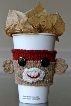 George - Sock Monkey Cup Cozy Pattern