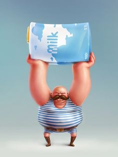 рисунки арт, milk 2013junedairymonth, креативная реклама