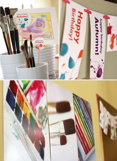 Art themed birthday party from Hostess with the Mostess