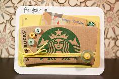 Starbucks Gift Card Holder. Qucik and Easy DIY holder.