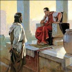 Brian Jekel Jesus Before Pilate Unframed Canvas #BrianJekel #Art Open Edition.