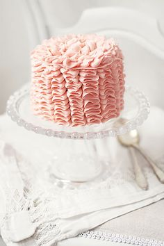 Ruffly pink cake!