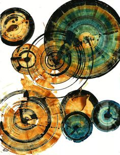 abstract circles - love the colors!