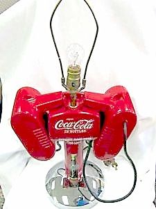 Coca-Cola Drive-In Speakers Lamp