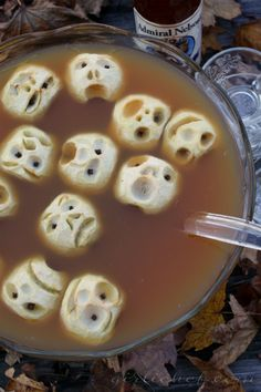 Shrunken Heads in Spiced Cider...would also work for Walking Dead/zombie themed party
