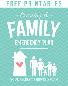 "Want to prepare for disasters ... but not sure where to start?  Click here for printables to get your family started with a family emergency plan.  Great ideas for beginners.  Binder inserts, covers, posters, handouts.  Your family deserves a plan!  ""If ye are prepared, ye shall not fear."" D 38:30"