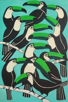 toucan print by komitaart