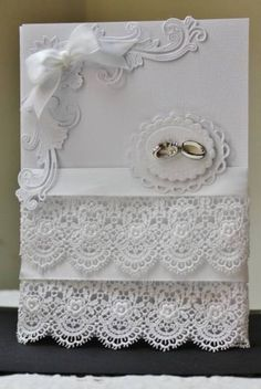 stunning card, love the lace