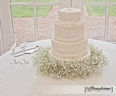 Wedding Photography  Kentucky Wedding Cake  Bride Cake White
