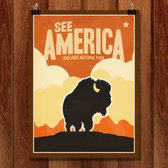 See American prints - artistic renderings of national parks, shops by state. Beautiful!