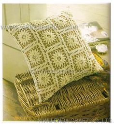 Crochet pattern pillow - Learn how to crochet