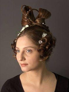 Periodo Romántico, late Regency era hair