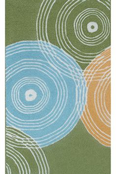 The Rug Market Retro Green  Rug