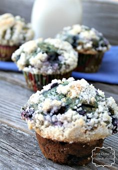 Blueberry Buttermilk Muffins - These were really good, very dense, didn't do the topping though but it would of been awesome I am sure.