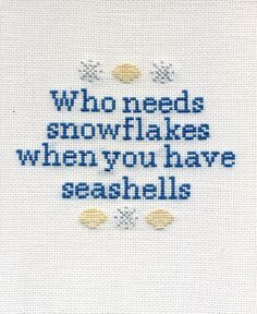 Who needs snowflakes when you have seashells.