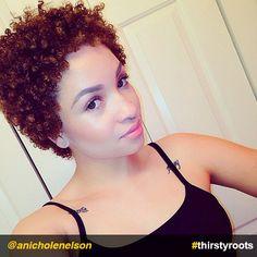 A Black Hair Natural Curl Pattern Wash-n-Go