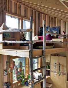 cabin style loft bed