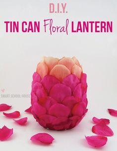 DIY Tin Can Floral Lantern destination wedding beach