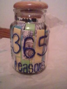 put a reason you love your spouse in the jar everyday and read on new years eve