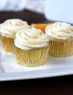Orange White Chocolate Cupcakes