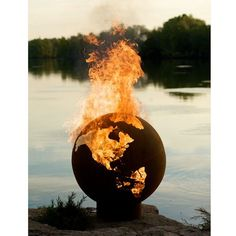 outdoor fires, outdoor fire pits, side yards, burn earth, world globes