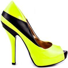 Neon Yellow Black Pat