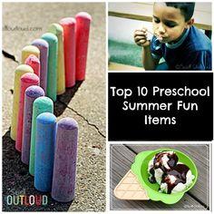 Preschool Summer Fun Activities